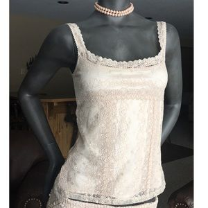 Express Ivory Lace Cami